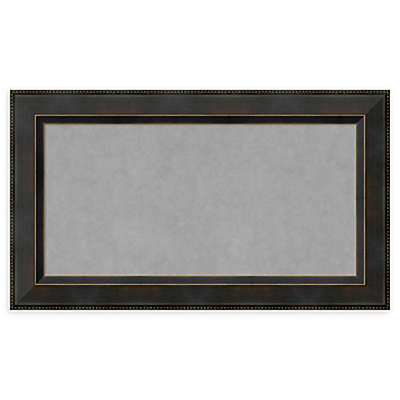 Amanti Art Framed Magnetic Board in Signore Bronze