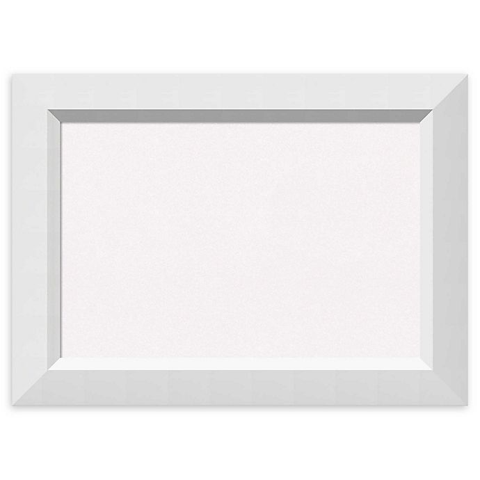 Alternate image 1 for Amanti Art White Cork Board with Angled Frame in Blanco White
