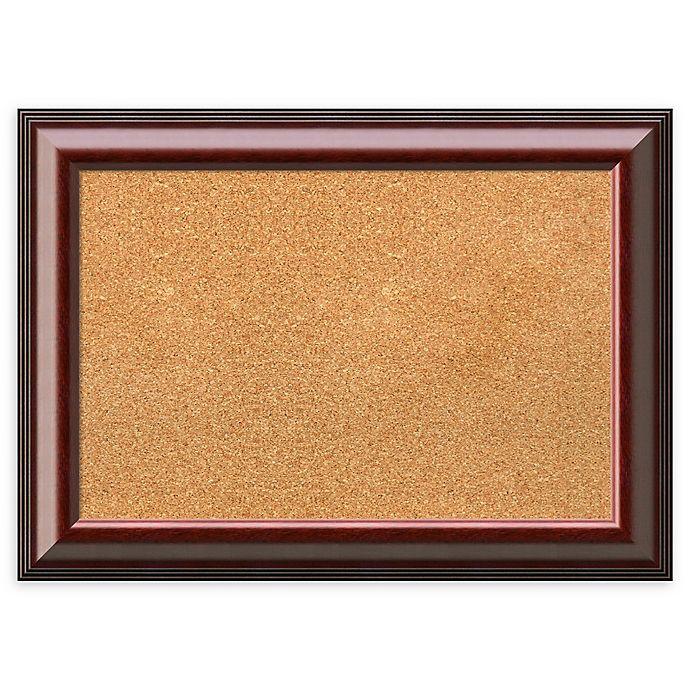 Alternate image 1 for Amanti Art Framed Cork Board in Cambridge Mahogany