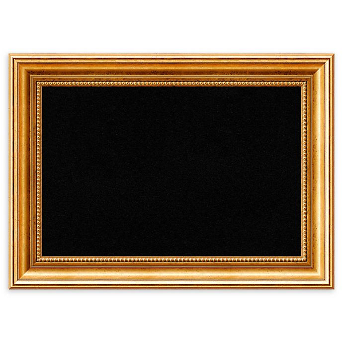 Alternate image 1 for Amanti Art Framed Cork Board in Townhouse Gold