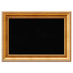 Amanti Art Framed Cork Board in Townhouse Gold