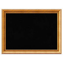 Amanti Art Large Framed Cork Board in Townhouse Gold