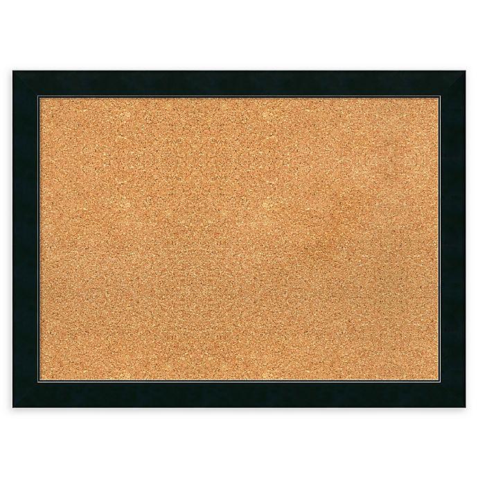 Alternate image 1 for Amanti Art Framed Cork Board in Corvino Black