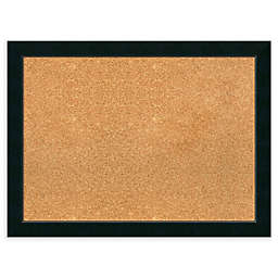 Amanti Art Framed Cork Board in Corvino Black