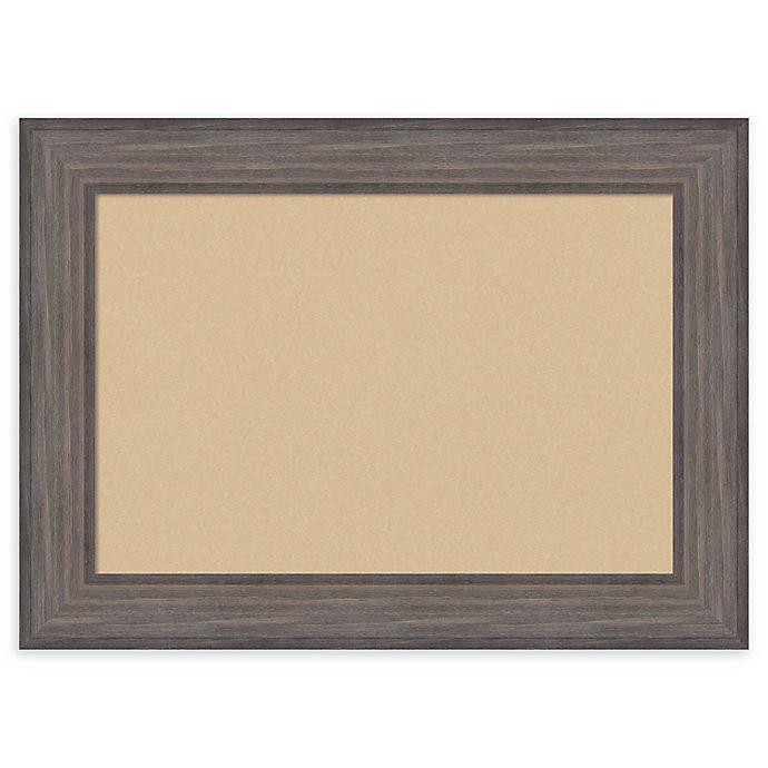 Alternate image 1 for Amanti Art Framed Beige Cork Board in Country Barnwood