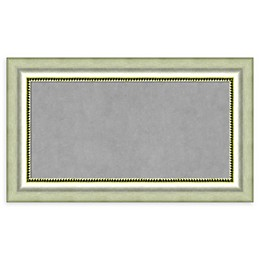 Amanti Art Framed Magnetic Board in Vegas Burnished Silver