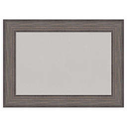 Amanti Art Grey Cork Board with Country Barnwood Frame in Rustic Grey