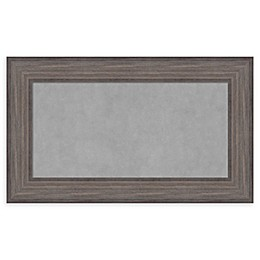 Amanti Art Magnetic Board with Country Barnwood Frame in Rustic Grey