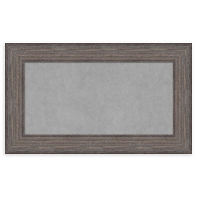 Alternate image 1 for Amanti Art Magnetic Board with Country Barnwood Frame in Rustic Grey
