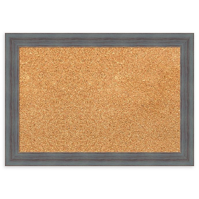 Alternate image 1 for Amanti Art Cork Board with Dixie Grey Rustic Frame