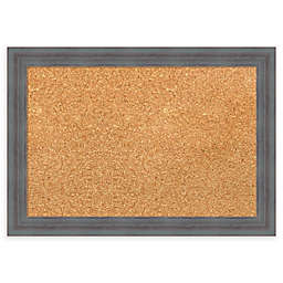 Amanti Art Cork Board with Dixie Grey Rustic Frame