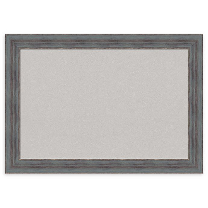 Alternate image 1 for Amanti Art Grey Cork Board with Dixie Grey Rustic Frame