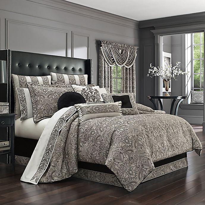 Alternate image 1 for J. Queen New York Chancellor Queen Comforter Set in Silver