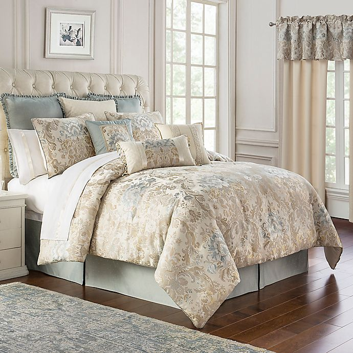 Alternate image 1 for Marquis® by Waterford Warren Queen Comforter Set in Cream