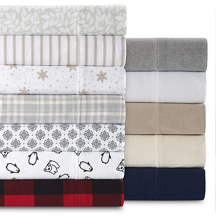 Alternate image 1 for The Seasons Collection® HomeGrown™ Flannel Sheet Set