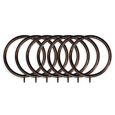 Classic Home Metal Window Curtain Rings (Set of 7)