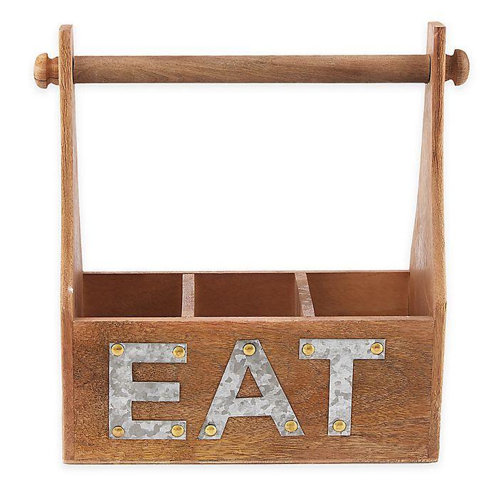 Alternate image 1 for Mud Pie® Eat Towel & Utensil Holder