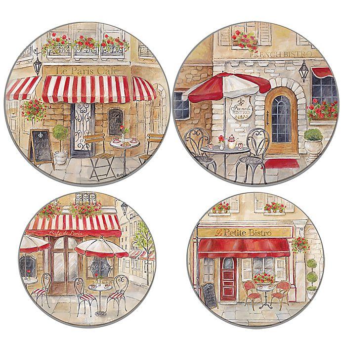 Alternate image 1 for Range Kleen® Paris Cafe Multicolor Burner Covers (Set of 4)