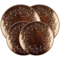 Range Kleen Reg Ivy Embossed Burner Covers In Copper Set