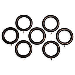 Classic Home Wood Window Curtain Rings (Set of 7)