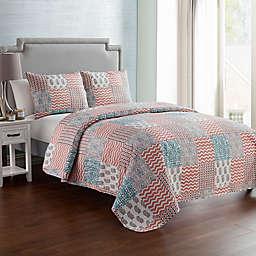 VCNY Home Anna Patchwork 3-Piece Reversible Quilt Set