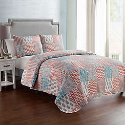 VCNY Home Anna Patchwork 3-Piece Reversible Quilt Set