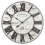 Sterling & Noble Rustic Prairie Wall Clock in White