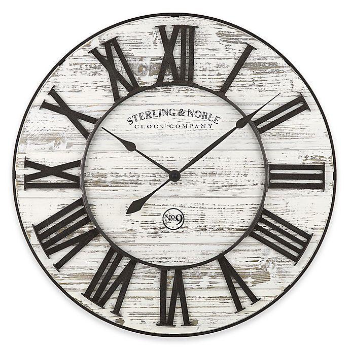 Buy Sterling Amp Noble Rustic Prairie Wall Clock In White