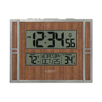 La Crosse Technology Faux Wood Atomic Clock