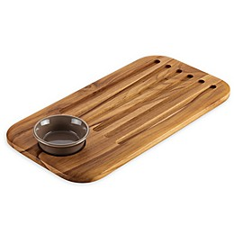 Anolon® Bread Board and Dipping Bowl Set in Brown