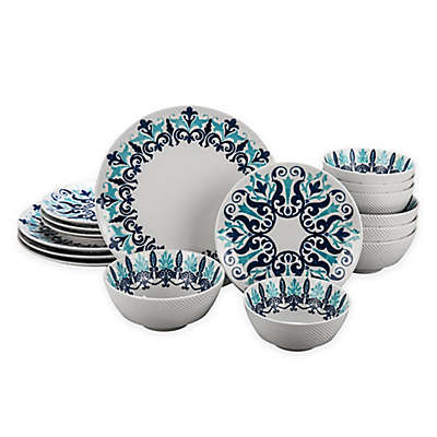 Bia Cordon Bleu Kashgar 16-Piece Dinnerware Set in Blue