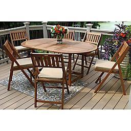Outdoor Interiors® 7-Piece Eucalyptus Wood Folding Patio Set