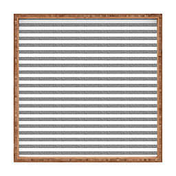 Deny Designs by Little Arrow Design Co. Square Serving Tray in Grey Stripes