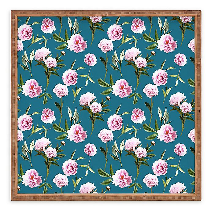 Alternate image 1 for Deny Designs Peonies In Dreams by Lisa Argyropoulos Square Serving Tray