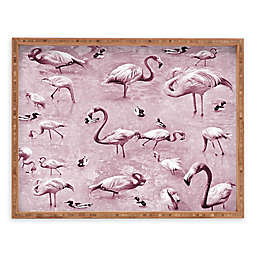 Deny Designs Vintage by Lisa Argyropoulos Rectangular Serving Tray with Flamingos