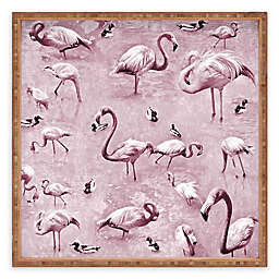 Deny Designs Vintage by Lisa Argyropoulos Serving Tray with Flamingos