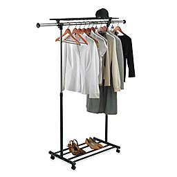 Heavy Duty Chrome Portable & Adjustable Garment Rack