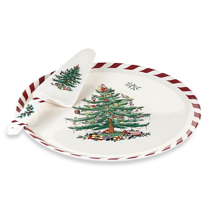 Spode Christmas Tree China Sale: Spode® Christmas Tree Peppermint Cake Plate & Server