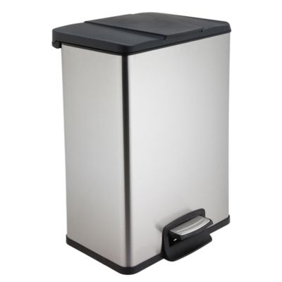 Test Rite 40 Liter Rectangular Stainless Steel Step Trash Can by Bed Bath And Beyond