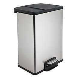 Test Rite 40-Liter Rectangular Stainless Steel Step Trash Can