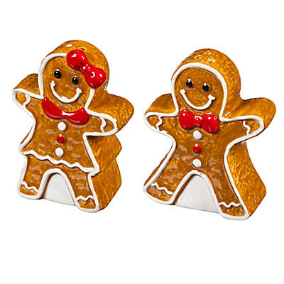 Cypress Home Gingerbread Salt and Pepper Shaker Set