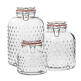 Home Essentials & Beyond Hobnail oz. Clear Canister