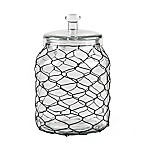 Home Essentials & Beyond Chicken Wire Wrapped 105 oz. Clear Canister