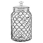 Home Essentials & Beyond Chicken Wire Wrapped 141 oz. Clear Canister