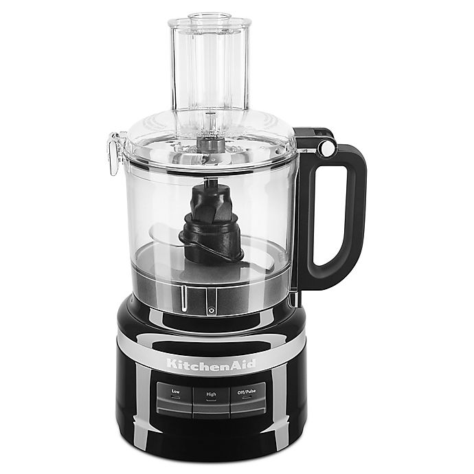 Alternate image 1 for KitchenAid® 7-Cup Food Processor in Onyx Black