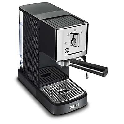 Krups® XP344 Calvi Steam & Pump Compact Espresso Machine in Black/Chrome