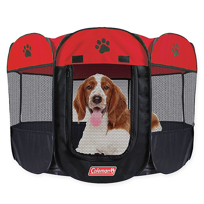 Alternate image 1 for Coleman® Large Pop-Up Pet Playpen in Red