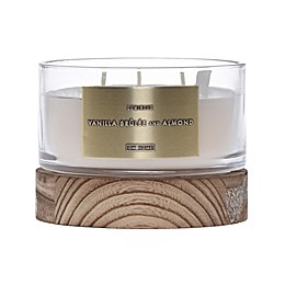 DW Home Vanilla Brulee and Almond Wood-Accent 13 oz. Jar Candle in Ivory