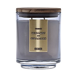 DW Home Bergamot and Sugarcane Wood-Accent 19 oz. Jar Candle in Grey