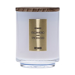 DW Home Gardenia and Tuberose Wood-Accent 10 oz. Jar Candle in White